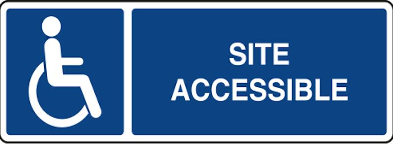 Panneau accessibilité