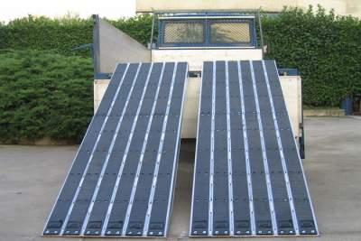Rampes de Chargement  pour chenilles en acier avec revêtement en caoutchouc - Jusqu'à 26,3 Tonnes