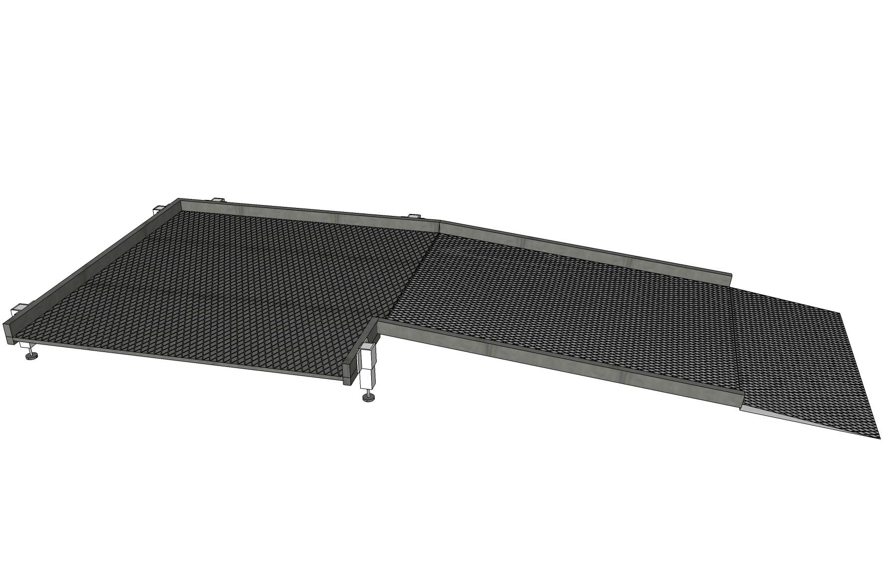 Système de rampes de 900mm sans main courante