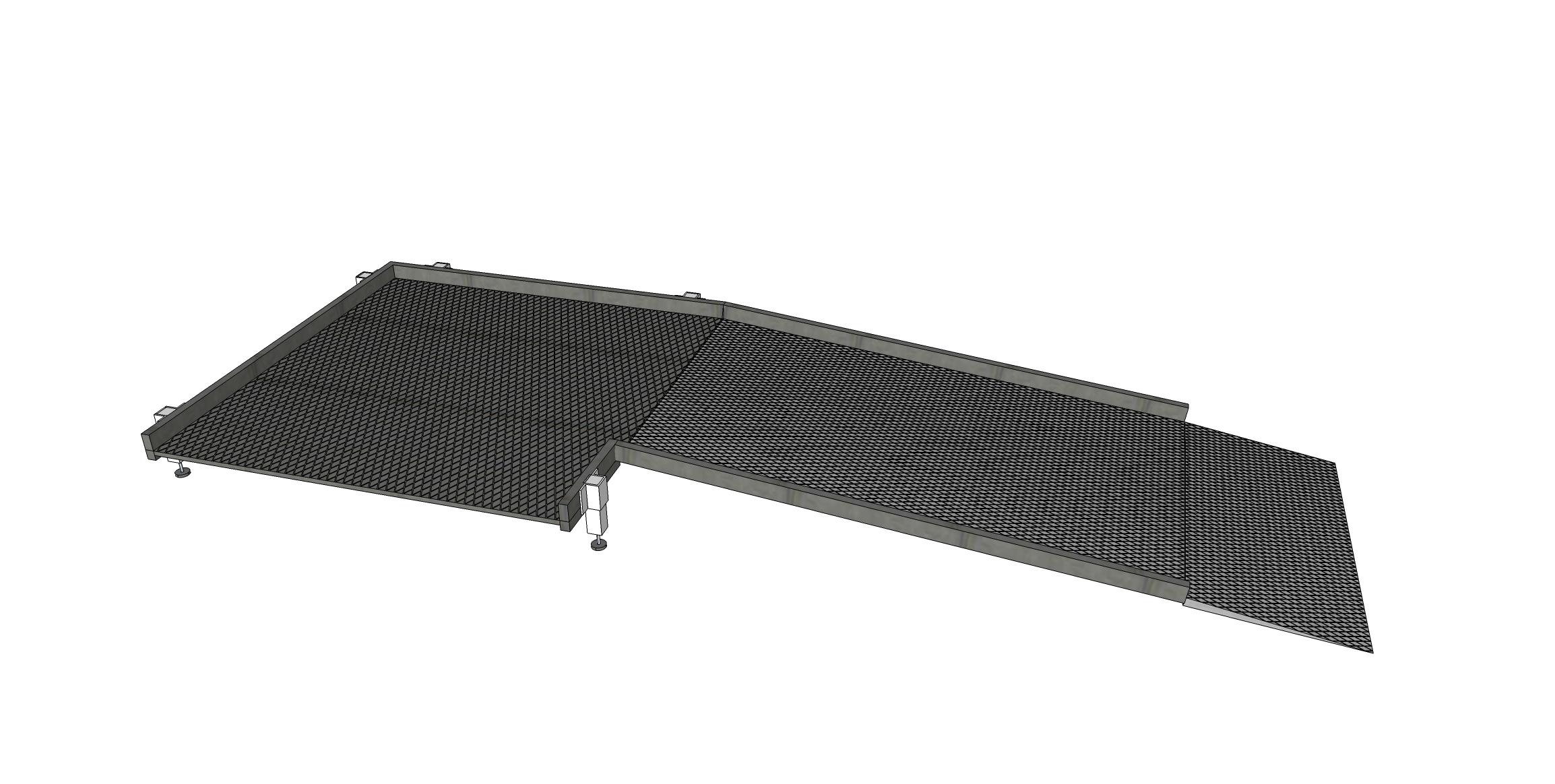 Système de rampes de 1300mm sans main courante