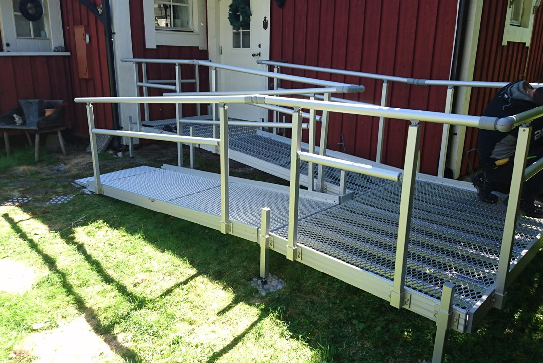 Rampes modulaires légères en aluminium