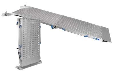 Rampes pliables et robustes pour camions- 2 parties